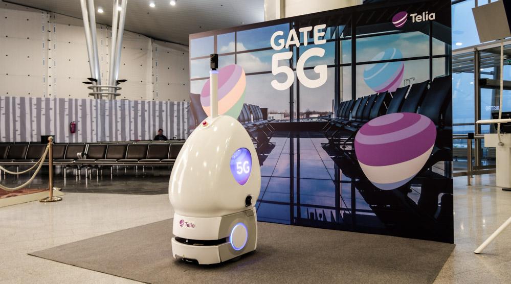 5G-mobiilirobotti Helsinki-Vantaan lentoasemalla