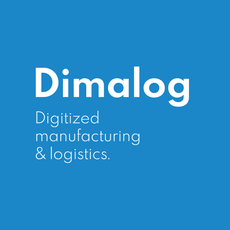 Dimalog logo with slogan