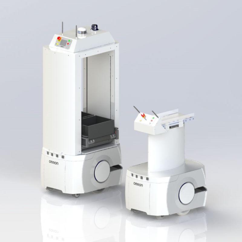 Omron LD Mobile Robots with conveyor top modules