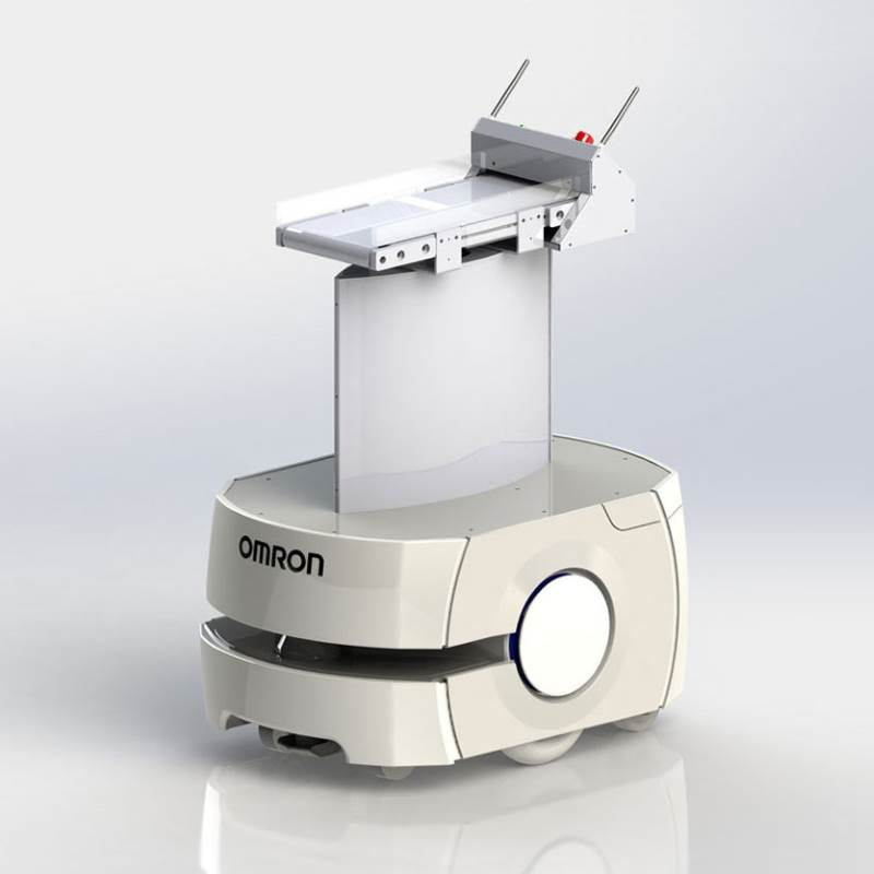 Omron LD Mobile Robot with belt conveyor top